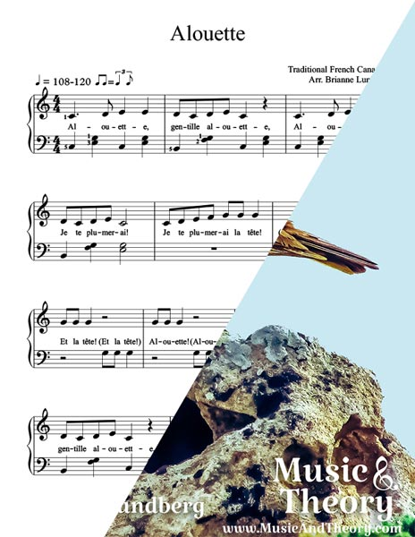 Alouette Sheet Music Preview