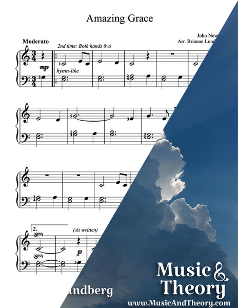 Amazing Grace Piano Sheet Music Sample