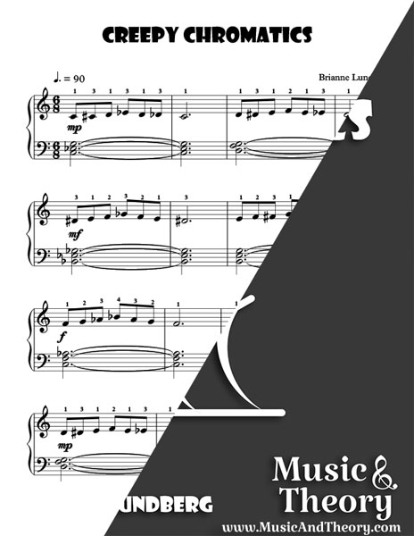 Creepy Chromatics Piano Sheet Music Sample