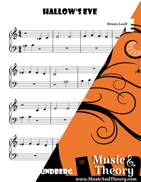 Hallow's Even piano sheet music sample