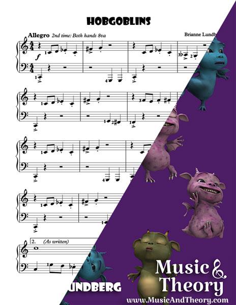 Hobgoblins piano sheet music sample