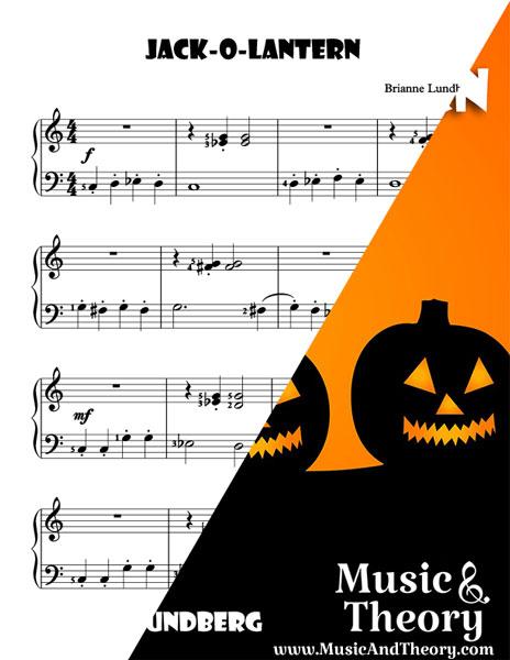 Jack-O-Lantern Halloween Piano Sheet Music Sample