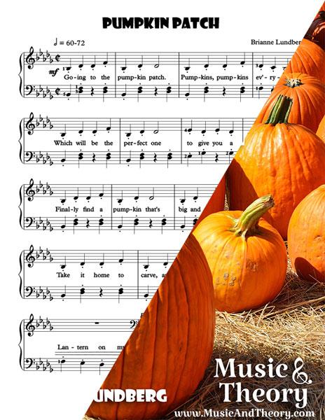 Pumpkin Patch Halloween Piano Sheet Music Sample