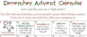 FREEBIE: Piano Practice Advent Calendar