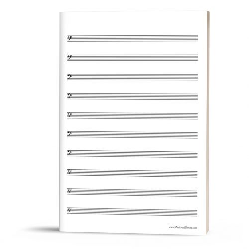 FREEBIE: Bass Clef Manuscript Paper (Bass Staff Paper)