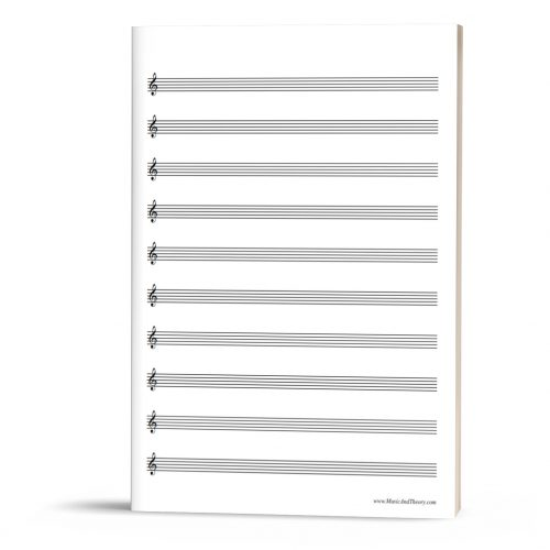 FREEBIE: Treble Clef Manuscript Paper (Treble Staff Paper)
