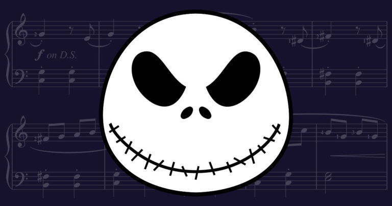 This is Halloween Easy Piano Sheet Music from Nightmare Before Christmas