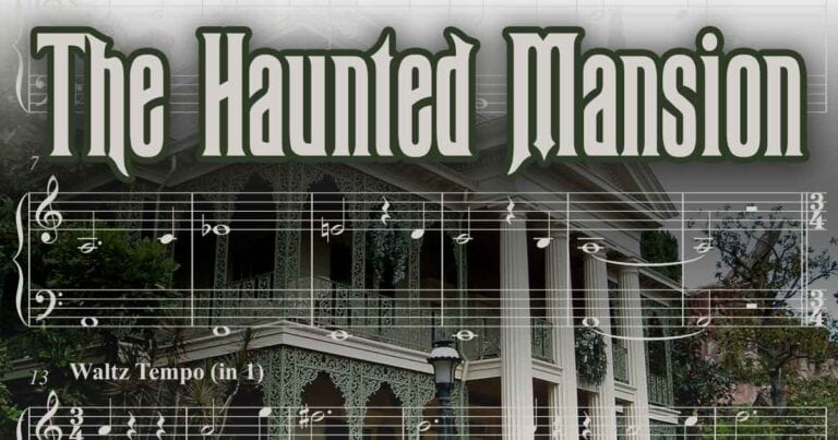Haunted Mansion Piano Sheet Music from Disneyland and Disney Parks