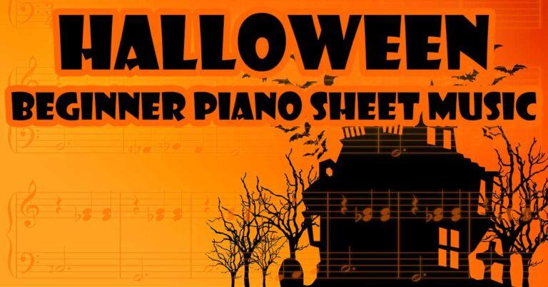 Halloween Piano Sheet Music for Beginners